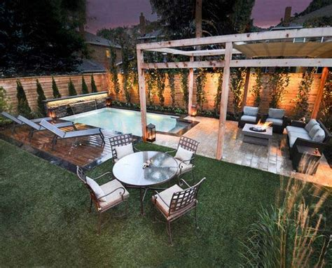 28 Fabulous Small Backyard Designs With Swimming Pool Pool Small Backyard
