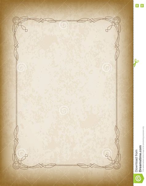 Vintage Note Card Template by Frame With The Blacked Out Edges And A Blank Space For