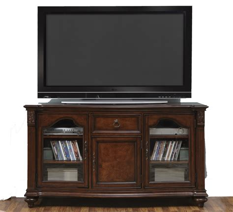 bookcase with frosted glass doors dark brown wooden tv stand with two shelves on the middle