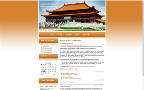 Website Templates For Temple Free Download | metamorph temple free wordpress theme