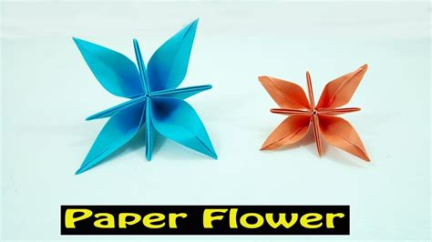 Carambola Flower Origami Written - easy origami flowers for beginners images flower