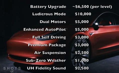 tesla model 3 upgrade options 191 cu 225 l ser 225 el precio tesla model 3 con las diferentes