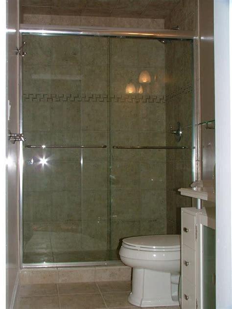Semi Frameless Heavy 3 8 Quot Clear Bypass Shower Doors From A Frameless Bypass Glass Shower Doors
