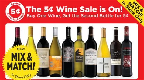 Mix Match On Sale by Bevmo 5 Cent Wine Sale Is Back With A New Twist S