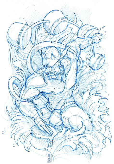 sketchbook japanese 24hr sketch 290 raijin by fydbac on deviantart