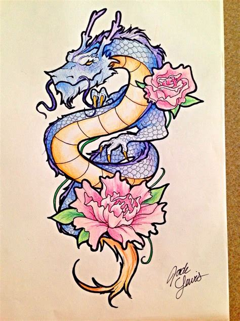 dragons of heaven tattoo concept jade lewis