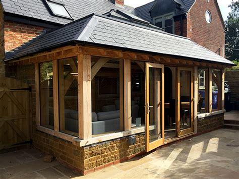 Flat Roof Garage Design shires oak buildings specialists in oak framed structures