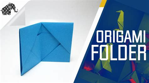 How To Make Paper Folder For - origami how to make an origami folder wallet
