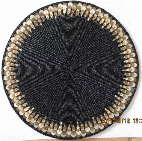 beaded table mats and coasters high quality black paper doilies handmade beaded placemat