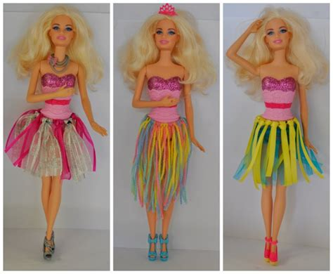 DIY (no sew) Ribbon Barbie Doll Skirt   Be A Fun Mum