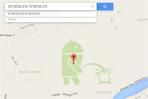 apple maps for android apologises for the android mascot on apple
