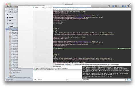 xcode quick look tutorial xcode empty uiview snapshots from view controller loaded