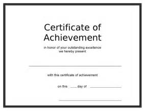 Blank Award Certificate Template by Blank Award Certificate Templates Search Results