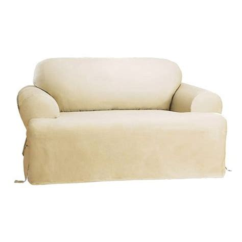 Sure Fit Cotton Duck Sofa Slipcover by Sure Fit Cotton Duck T Cushion Sofa Slipcover Target