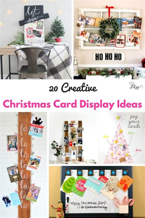 how to display cards 20 creative ways to display your christmas cards hey fitzy