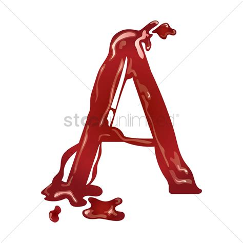 Letter With Blood Letter A With Blood Vector Image 1499397 Stockunlimited