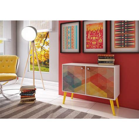 multi colored console table manhattan comfort avesta white and multi colored storage