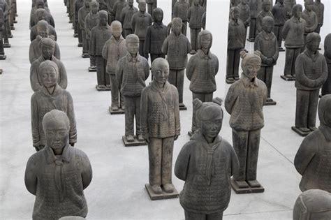 Designboom Girl Battle   prune nourry s terracotta daughters reflect chinese gender