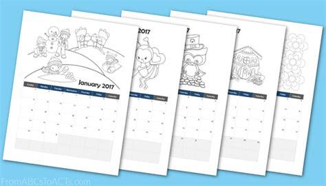 printable calendar booklet 2017 printable 2017 calendar coloring book for preschoolers