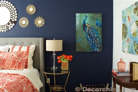 coral and navy bedroom surprise i redid our master bedroom again navy and