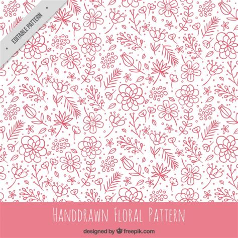 pink pattern free vector hand drawn pink floral pattern vector free download