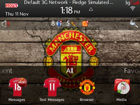 manchester united themes download for mobile manchester united fc blackberry themes 171 mobile4pp