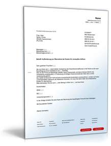 Bearbeitungsgebühr Kredit Zurückfordern Musterbrief Ausdrucken Aufforderung Kosten 252 Bernahme Verstopfter Abfluss Muster Zum