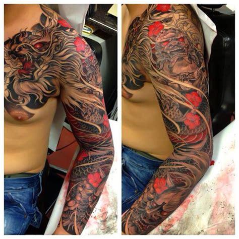 jeffs tattoo threat fu hanya mask sleeve