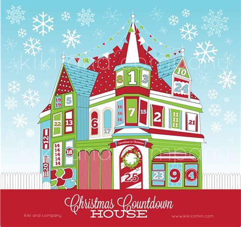printable christmas house christmas countdown house kiki company