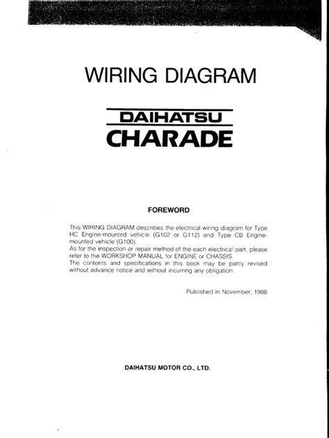 daihatsu transmission diagrams wiring diagram schemes