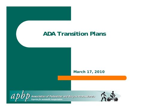 Ada Transition Plans Apbp Webinar Ada Transition Plan Template