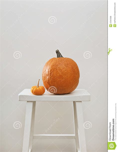 pumpkin on a stool royalty free stock image image 27347006