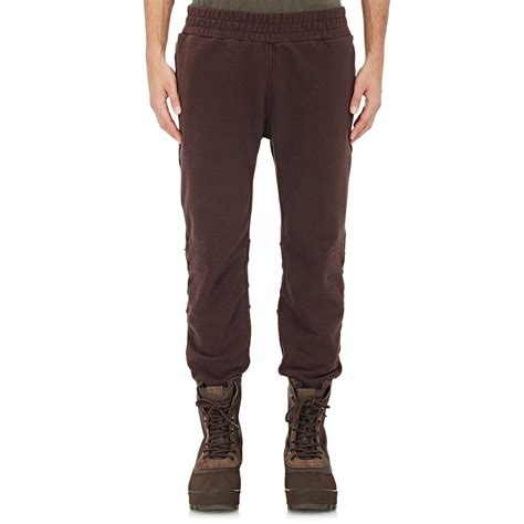 Jogger Brown Ribs lyst yeezy terry sweatpants in brown for