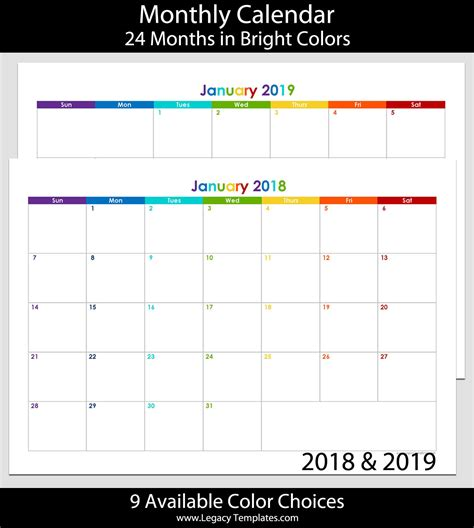 2018 2019 flowers 24 month calendar 2 year monthly pocket planner notebook notes and phone book u s holidays lettering book 4 0 x 6 5 books 2018 2019 24 month landscape calendar a5 legacy