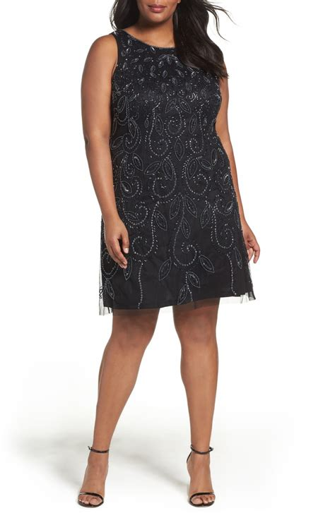 beaded dresses plus size papell beaded a line dress plus size nordstrom