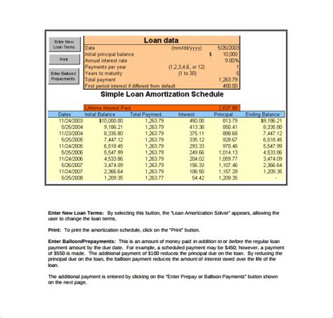 formula for mortgage amortization 9 loan amortization calculator templates to download