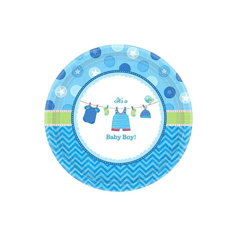baby shower plates boy its a boy baby shower large plates