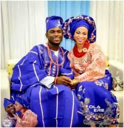 yoruba wears peach and blue yoruba weddings