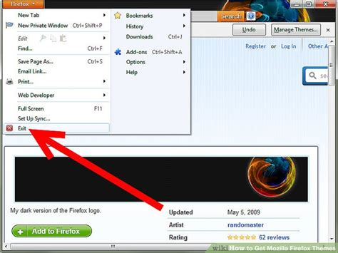 firefox themes english how to get mozilla firefox themes 4 steps with pictures