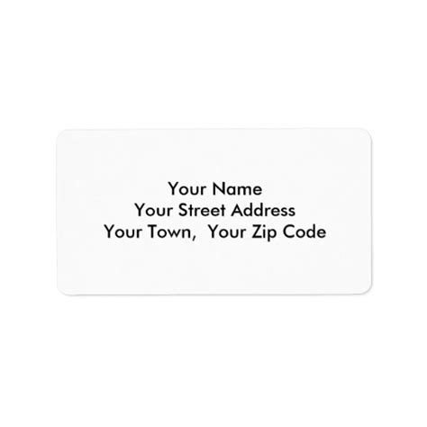 medium template return address personalized labels zazzle