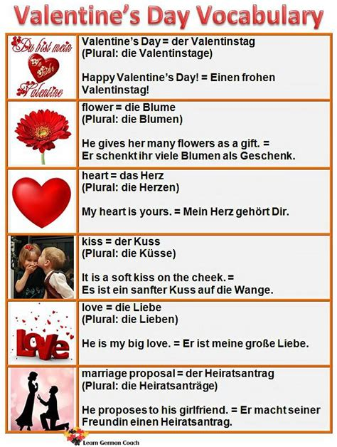 valentines facts useful vocabulary for s day deutsche sprache