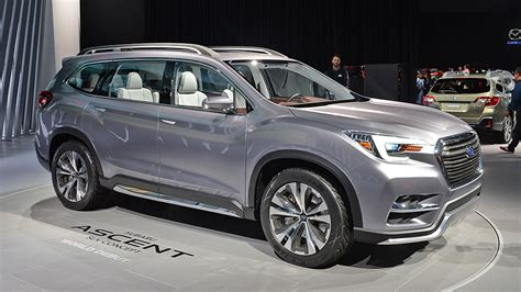 subaru shows ascent seven seater suv concept leisure