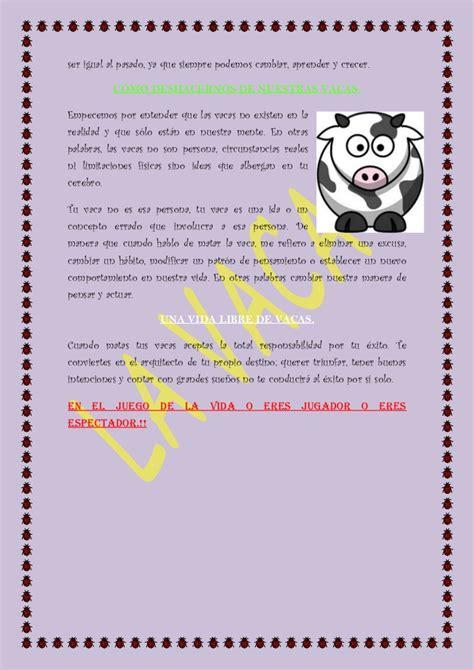 la vaca resumen libro la vaca resumen libro