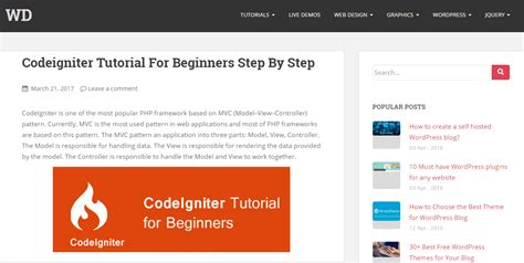 simple codeigniter blog best codeigniter tutorials for beginners