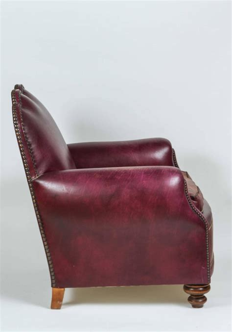 Purple Leather Armchair Purple Leather Club Chair For Sale At 1stdibs