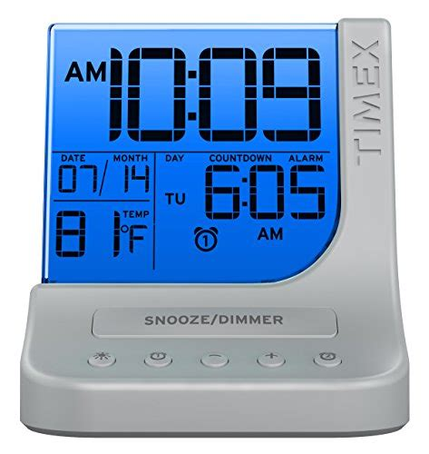 timex color changing dual alarm clock with 1a usb charge t125sc home garden decor clocks
