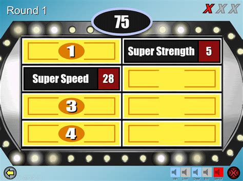 6 Free Family Feud Powerpoint Templates For Teachers Family Feud Template