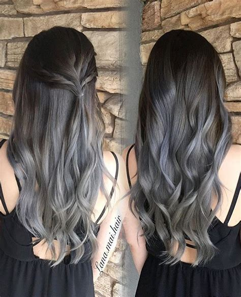 partial silver highlights on dark brown hair procedure 25 best ideas about gray hair highlights on pinterest
