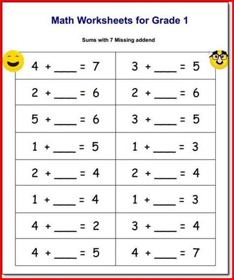 printable math worksheets for 1st grade pdf 28 math worksheets in pdf first grade math