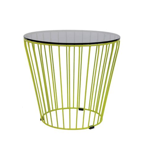 cage table top cage coffee table 500mm dia with glass top